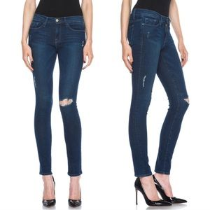 Frame Le Skinny Runyon Canyon Distressed Jeans 27